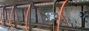 Нагревательный провод ПНСВ при заливке бетона